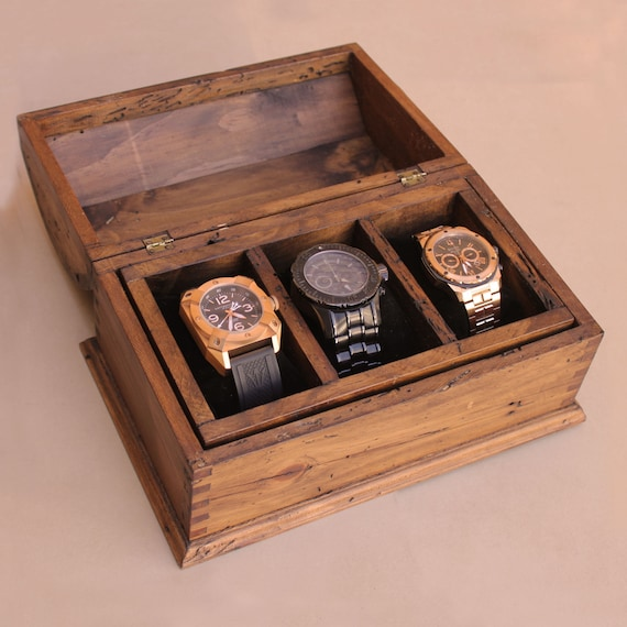 Watch box men 39 s watch box watch box for men wood watch for Watches box