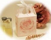Favor Gift Box Digital Download Pink Roses