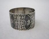 Siam Niello Sterling Cuff Bracelet