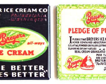 Breyer's Ice Cream Fridge Magnet Set