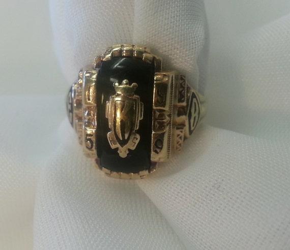 Vintage Class Ring Jostens La s 10K Gold yx 1959 Soroity
