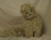 Folk Art Cat made from Sheepskin, Maxwell Hay & Co, Auckland, New Zealand, Stuffed, Toy, Cat