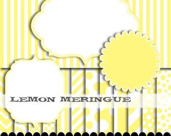 Yellow clip art frame clipart digital paper diagonal polka dot yellow frame scrapbook chevron baby frame clip art : p0176 3s1050 IP