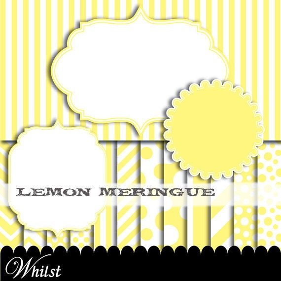 Yellow clip art frame clipart digital paper diagonal polka dot yellow frame scrapbook chevron baby frame clip art : p0176 3s1050 IP