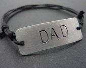 Personalised Dad Bracelet - Customised Gift, Free UK Postage