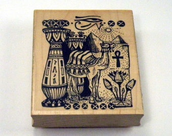 Egyptian Collage Rubber Stamp