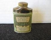 Vintage Colgate Cashmere Bouquet Talc SAMPLE Powder Tin