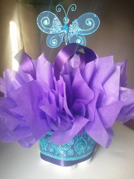 Butterfly mini diaper cakes customize your table by