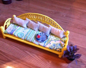 Barbie Doll House Party PATIO VIGNETTE Room Furniture & Accessories Wicker Deck Flowers
