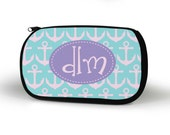 Anchor Cosmetic Case, Personalized Cosmetic Bag, Custom, Bridesmaid Gift, Custom Gift, Tech bag, Pencil Case