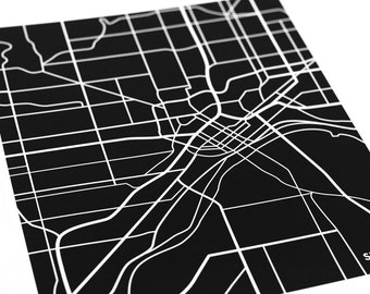 St. Paul City Map Art Print / Saint Paul Twin Cities Wall Art Poster / 8x10 Digital Print / Personalized colors