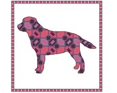 Labrador  cross stitch pattern, 4 x PDF cross stitch charts dog