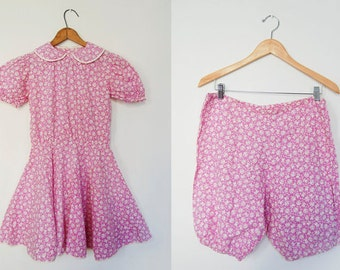 V I N T A G E 1930's Lavender Spring playdress with bloomers