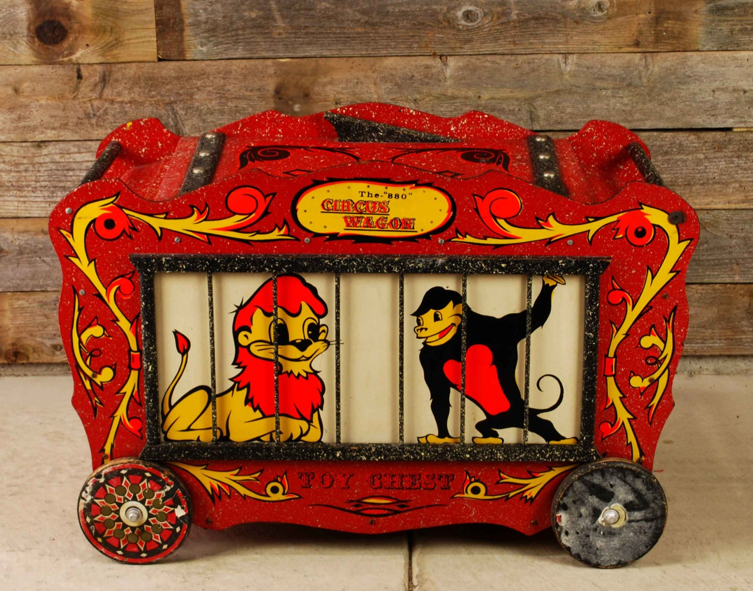 Vintage 880 Circus Wagon Toy Chest 1960 S