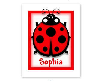 Ladybug Art Print for Children's Room