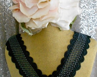 Black and White Mesh Appliques
