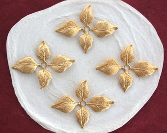 Leaves,Vintage Style,Supplies,Scrap booking,Collage,Craft Supplies,Jewelry Supplies,Made in USA,Wedding Supplies,Brass Leaves STA-133
