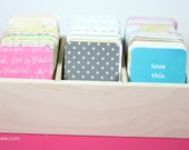 Sale! Small craft storage box for scrapbooking, project life and craft supplies