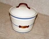 Shawnee Grease Jar Lidded Mid Century
