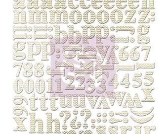 SALE Prima Alphabet Letters (Chevron) Canvas Resist - Mistable Die Cut Letters - 104 pcs