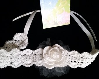 White Girl Headband, Flower Baby Headband, White Baby Girl Headband, White Baby Headbands, Summer Baby Girl Headband, BabyGirl Shower Gift