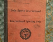 Free Shipping Code Sportif International Jan 1929 International Sporting Code AIACR Association Internationale des Automobile Clubs Reconnus