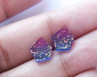 Cosmic Shrink Plastic Earrings