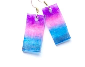 Rectangular Shrink Plastic Earring Hooks