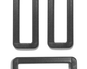 5 PIECES, all size, Plastic Belt Buckle Split Rectangular Loop Rings -Sewing Supply for Bag , strap