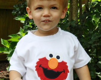 Personalized Elmo Shirt or Bodysuit