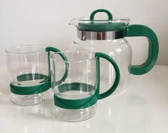 Retro 'Randwyck' Coffee/Tea Set in Green
