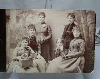 Antique Photograph of Six Young Women