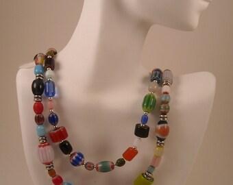 Millie Chevron Glass Beaded Necklace