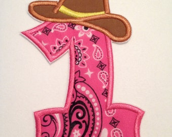 Cowgirl/ Cowboy Number Iron on Patch