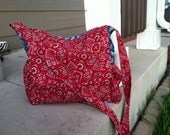 Tractor and Red Bandana Diaper Bag