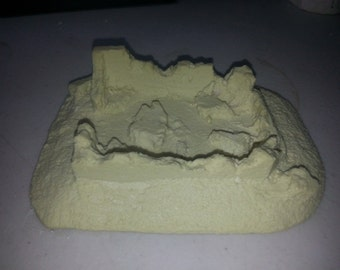 Terrain FOW - Flames of War 15mm Basic Bombed out Building/House Cast In Resin