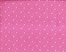 Pink Polka Dots, Spot Dot, Pink Fabric, Bubble Gum Pink Fabric, White Polka Dot Fabric, 02016