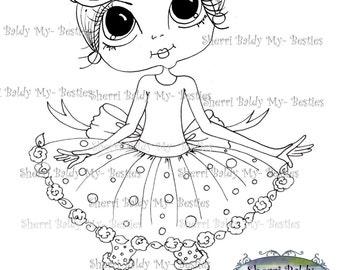 INSTANT DOWNLOAD Digital Digi Stamps Big Eye Big Head Dolls Carley Spring By Sherri Baldy