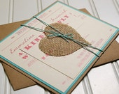 Modern Rustic Wedding Invitations: Unique Handmade Rustic Paper Bag. Kraft Paper. Rustic Wedding. Shabby Chic Wedding.