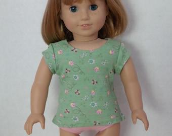 Short-sleeve doll t-shirt in mint green