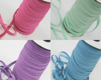 3/8th inch stretch elastic - 10 yards - you choose color(s) for DIY headbands and hairties