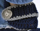 Midnight blue slippers, crochet slippers, womens slippers, crochet booties, crochet socks, winter slippers, warm slippers, button slippers