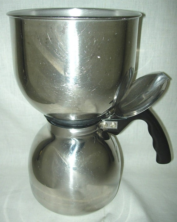 Vacuum Coffee Maker Metal : Vintage 8-cup Vacuum Coffee Pot Maker Brewer & by PleaseRingBell