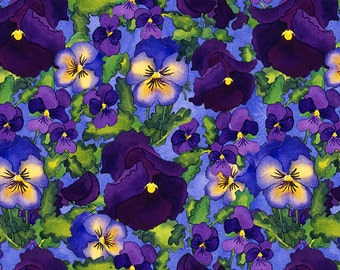 Fine art giclee print, Pansies, available in 4 sizes