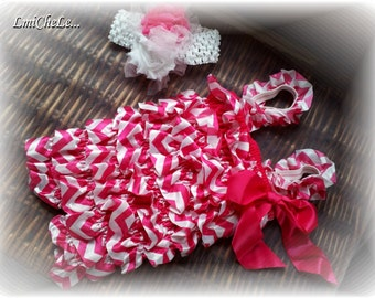 Baby Girl Adorable Ruffle Romper Set with Matching Headband Size Newborn up to 18 months Choose Color