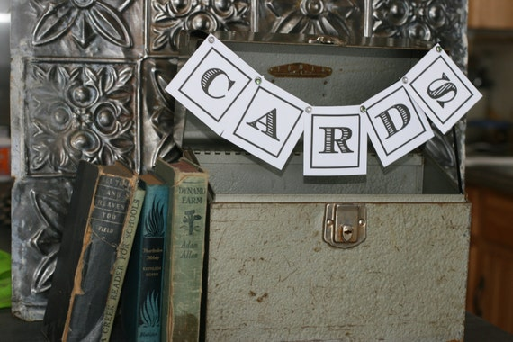 Vintage Silver Green Wedding Card Box/ Gray Tool Box, Wedding Decor, Wedding Card Holder