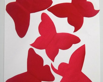 red butterfly applique set