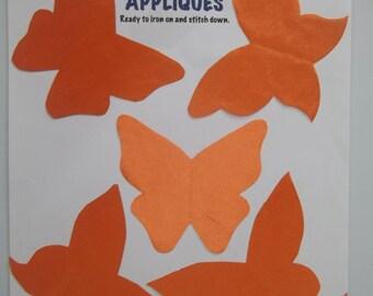 appliques set, orange butterflies