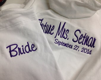 Bridal Party Tracksuit 2pcs. track suit  Future Mrs. ...Matron of Honor, Bridesmaid, Flower Girl Gift