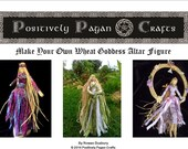 Learn How to Make Your Own Corn Dolly Altar figures. Yule Goddess,  Hecate, Moon Goddess, or Brighid . PDF Tutorial Downloadable e-manual